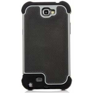 Galaxy Note 2 Case, iSee Case (TM) Heavy Duty Dual Layer Hybrid Protective Cover Case for Samsung Galaxy Note 2 II N7100 (Note2-3 in 1 Gray) (Grey)