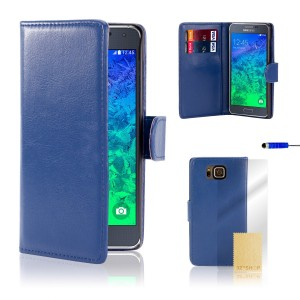 32ndShop 32nd Book PU Leather Case Cover for Samsung Galaxy Alpha (G850), including screen protector, clean