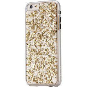 Case-Mate Cell Phone Case for iPhone 6/6s Plus - Retail Packaging - Gold Leaf/Clear