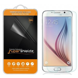 [2-Pack] Galaxy S6 Tempered Glass Screen Protector, Supershieldz Anti-Scratch, Anti-Fingerprint, Bubble Free, Lifetime Replacement Warranty