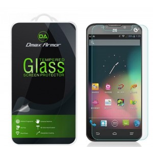 ZTE Quartz (Z797C) Glass Screen Protector, Dmax Armor [Tempered Glass] 0.3mm 9H Hardness, Anti-Scratch, Anti-Fingerprint, Bubble Free, Ultra-clear