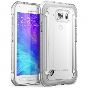 Galaxy S6 Active Case, SUPCASE Unicorn Beetle Series Premium Hybrid Protective Clear Case for Samsung Galaxy S6 ActiveWill Not Fit Galaxy S6, Retail Package (Clear/Clear)