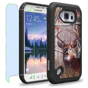 Samsung Galaxy S6 Active / G890 Case, INNOVAA Smart Grid Defender Armor Case W/ Free Screen Protector and Touch Screen Stylus Pen - Deer Hunting