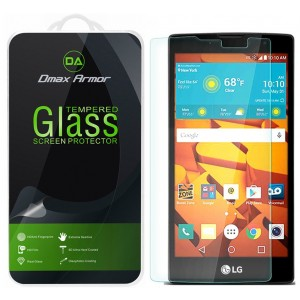 LG Volt 2 Glass Screen Protector, Dmax Armor [Tempered Glass] 0.3mm 9H Hardness, Anti-Scratch, Anti-Fingerprint, Bubble Free, Ultra-clear