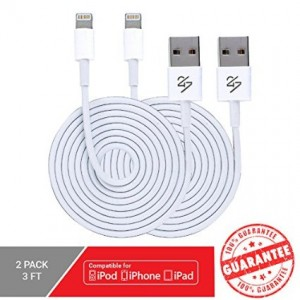 24/7 Cables Lightning Cable 3ft 8 pin USB Sync Cable Charger Cord for Apple iPhone 6S / 6S Plus /