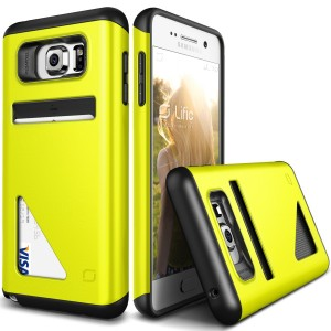 Galaxy Note 5 Case, Lific [Mighty Card][Lime Green] - [Wallet Card Slot][Drop Protection][Slim Fit] For Samsung Note 5