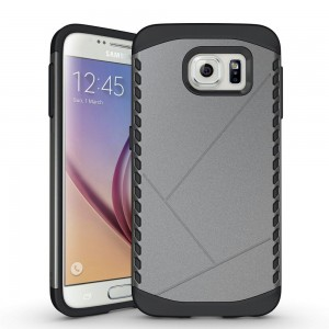 S6 Case,Galaxy S6 Case,Moment Dextrad [Non-Slip][Shock Absorbent] Dual Layer Armor Defender Corner Cushioned Protective Cover for Samsung Galaxy S 6 **Three Months Warranty** (Gray)