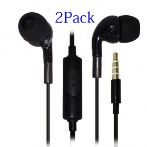 KingAcc(TM) 2-Pack Earphones Headphones Earbuds EarPods with Remote Control and Mic Stereo Design for iPhone iPad iPod Samsung Galaxy and More