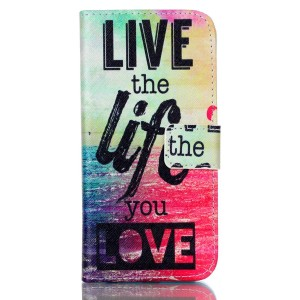 iPhone 6S Case,iPhone 6 Case,JanCalm [Kickstand] Pattern Premium PU Leather Wallet [Card/Cash Slots] Flip Case Cover for iPhone 6/6S + Crystal Pen (Live The Life You Love)