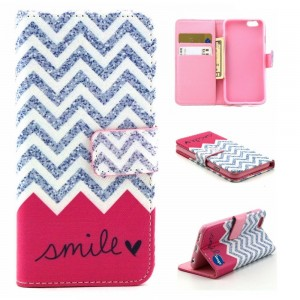 Deego iPhone 6S Plus Case, Adela Shop Flip Wallet Case Premium PU Leather and Soft TPU Protective Skin K