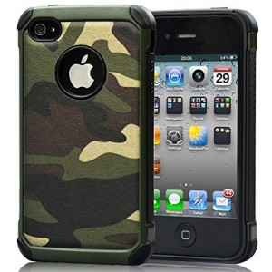 FDTCYDS 4S Case, iPhone 4s Case Defender Shockproof Dropproof High Impact Armor Plastic and Leather TPU Hy