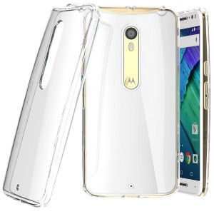 Tektide Moto X Pure Edition Case, [Invisible Armor] Xtreme SLIM, CLEAR, SOFT, Lightweight, Shock Absorbing