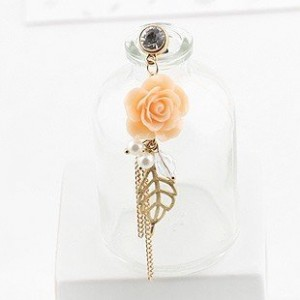 Sunday Gallery Earphone Jack Accessory Rose Flower Chain Beads Crystal Pearls / Cell Phone Charms / Dust Plug For iPhone 4 4S / iPad / Samsung Galaxy S3 S4 S5 / Other 3.5mm Ear Jack (Design #3)