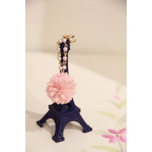 Sunday Gallery Earphone Jack Accessory Rose Flower Chain Beads Crystal Pearls / Cell Phone Charms / Dust Plug For iPhone 4 4S / iPad / Samsung Galaxy S3 S4 S5 / Other 3.5mm Ear Jack (Design #4)