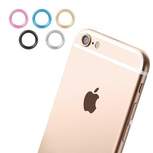 Iphone 6 Camera Protector, Pretid 5 X Set Black Silver Blue Gold Pink Premium Smartphone Camera Guard Protection Ring for Iphone 6 6 S 4.7 Accessories