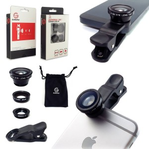 GoStellar Universal 3-in-1 Camera Lens Kit for iPhone 6 Plus, iPad, and other Mobile Devices - Wide Angle +
