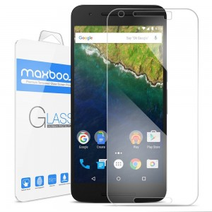 Nexus 6P Screen Protector, Maxboost [Tempered Glass] Premium Durable Glass Screen Protector For Go
