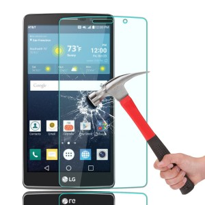 LG G Vista 2 Screen Protector, OMOTON Tempered-Glass Screen Protector with [9H Hardness] [Premium Crystal Clear] [Scratch-Resistant] [No-Bubble Installation],