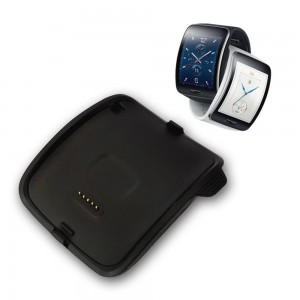 MoKo Gear S (SM-R750) Charger, Replacement Charging Dock Cradle Charger for Samsung Gear S Smart Watch SM-R750, with Micro USB Cable, BLACK