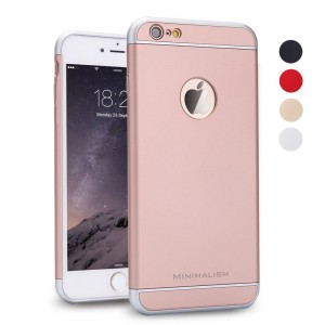 iPhone 6 Case, MINIMALISM 3 in 1 Ultra Thin and Slim Design Coated Premium Non Slip Surface with Excellent Grip Case Fit for iPhone 6 (4.7'')(2014) and iPhone 6S (4.7'')(2015) -- Rose Gold