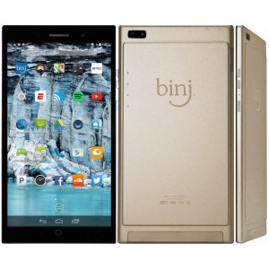 binj A6 Tablet and Unlocked Smartphone for Android - Quad Core 1.7Ghz (Champagne)