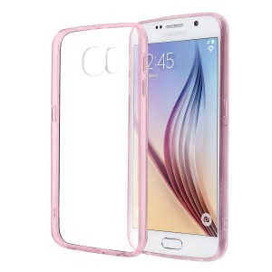 Samsung Galaxy S6 Premium Protective Case Diamond Shield - Crystal Clear - Perfect Fit, Shock-Absorbing, Anti-Scratch TPU Bumper with Raised Edges, Protective Port Covers (Pink)