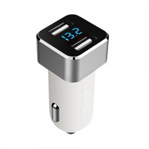 Generic 3.1A Intelligent Dual USB Car Charger on Cigarette Lighter with LED Display for iPhone, Samsung Ga