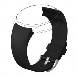 Henoda Black 20mm Replacement Rubber Band for Samsung Gear S2 R732 Classic Smart Watch
