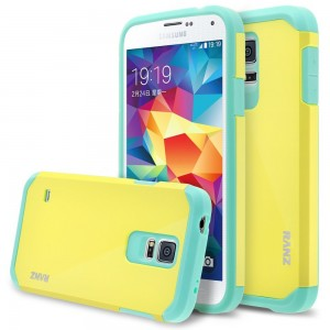 Galaxy S5 Case, RANZ Mint with Lemon Hard Impact Dual Layer Shockproof Bumper Case For Samsung Galaxy S5 (I9600, Verizon, ATandT Sprint, T-mobile, Unlocked)