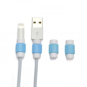 GoldenSunny Pack of 4 - Blue, Charging Cable Saver Protector, USB Lightning Saver for Apple / iPhone / iPad Mi