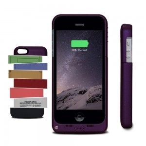 Tomameri Multi-color Iphone 5 / 5s Extended Battery Case Slider Case External Protective Battery Case Back up Power Bank with Lightning Charging Port (Purple)