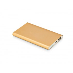 Arque Brand Power Bank ? Chic Geek Model 5000 mAh ? Functional Fashionable Portable Charger ? Fast Charging Stylish External Backup Battery for Mobile Devices and Premium Slim Compact Design (Gold)