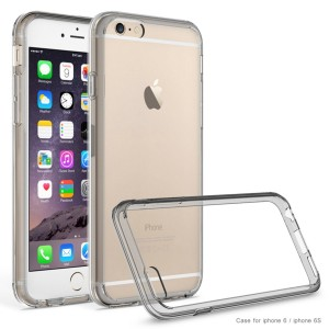 iPhone 6 case,iPhone 6S case AUMI Crystal Clear Shock-Dispersion Technology Scratch Resistant Bumper Case with Clear Back Panel for iPhone 6 6S (Grey)