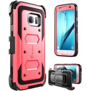 Galaxy S7 Case, [Armorbox] i-Blason built in [Screen Protector] [Full body] [Heavy Duty Protection ] Shock Reduction / Bumper Case for Samsung Galaxy S7 2016 Release (Pink)