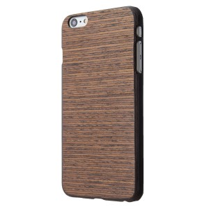 """iPhone 6/6s+ Plus (5.5"""") Handmade Genuine Wood Hard Case - Slim and Durable Poly-carbonate Shock and Water Resistant Bumper (Mixed Horizontal)"""