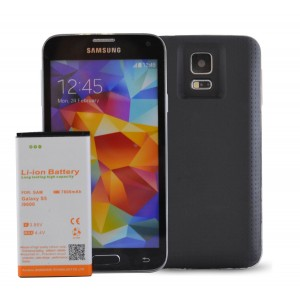 MOBILE CHARGER Samsung Galaxy S5 Extended Battery with 7800 mAH Battery Pack. Use it as cell phone battery replac