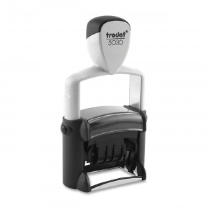 U. S. Stamp & Sign Trodat Professional Self-Inking Date Stamp, Stamp Impression Size: 3/8 x 1-5/8 Inches, Black (T503