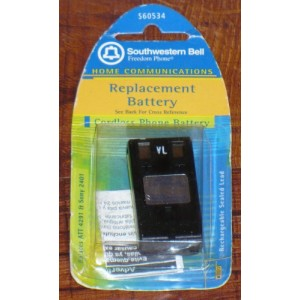 Southwestern Bell S60534 Replacement Cordless Phone Battery (for Vtech 2420, 2431, 2461)