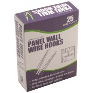 Advantus Panel Wall Wire Hooks, Silver, 25 Hooks per Pack (75370)
