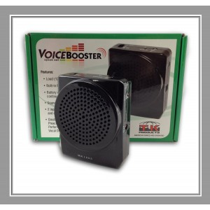 Voice Booster VoiceBooster Voice Amplifier 12watts Black MR1505 (Aker) by TK Products, Portable, for Teachers, C