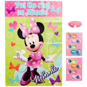 Amscan Minnie Mouse Party Game, Put The Ring onMinnie, Multicolored