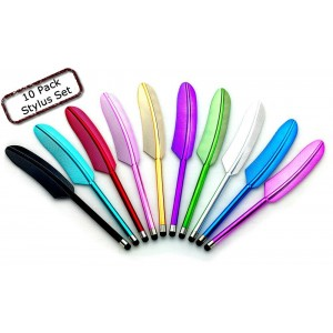 Universal 10 Pack Feather Stylus for All Touchscreen Devices for iPad,iPhone,Google Tablets and More!!