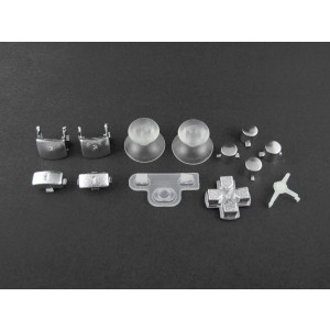 Console Customs PS3 Chrome Silver Full Parts Set (Thumbsticks, Buttons, D-pad, Triggers, Start/Select) for Playsta