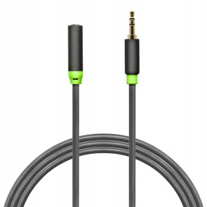 Aurum Cables 3.5mm Male To 3.5mm Female Stereo Audio Extension Cable - For iPhone, iPad or Smartphones - 10 Feet