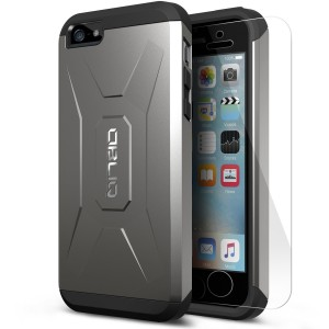 OBLIQ iPhone 5S Case,[Xtreme Pro][Gun Metal] w/ HD Screen Protector - Premium Slim Fit [Heavy Duty] Dual Layer Hard Case for Apple iPhone 5 / 5S Cases (Does NOT fit iPhone 5C) [Compatible with iPhone SE]