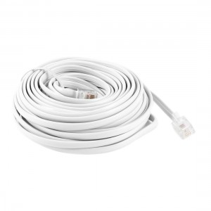 uxcell White RJ11 6P4C Modular Telephone Extenstion Lead Cable 9M 30ft
