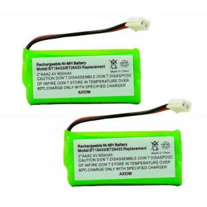 Axiom 2-Pack Rechargeable Battery For EMPCPH515D / ERP295GRN / SJB2121 / SM15320M / TEL0032 / TELVT6031 / UL133 / TEL10213 / 25255RE3