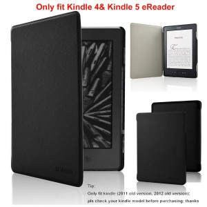 ACdream Kindle 5 and Kindle 4 Case - Ultra Slim Leather Cover Case for Kindle 4 and kindle 5 With Magnet Closure(Only Fit Kindle 2011 and 2012 old version); Not fit kindle 7th gen 2014 Version Or Paperwhite/ kindle touch), Black