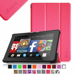 Fintie SmartShell Case for Fire HD 7 Tablet (2014 Oct Release) - Ultra Slim Lightweight with Auto Sleep / Wake Feature (will only fit Fire HD 7 4th Generation 2014 model), Magenta