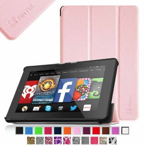 Fintie SmartShell Case for Fire HD 7 Tablet (2014 Oct Release) - Ultra Slim Lightweight with Auto Sleep / Wake Feature (will only fit Fire HD 7 4th Generation 2014 model), Pink